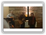 Jerry Anderson, Peewee and Cecelia Smock performed for the November 24, 2013 service