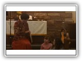 Pastor Lesley shares a Thanksgiving story during the Children's Sermon