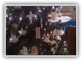 Our Christmas Tree is decorated with handmade decorations for the Christmas Season