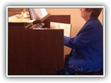 Our organist, Shirley Hall
